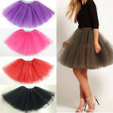 Ladies Girls Dancewear Cute Tulle Petticoat Tutu Pettiskirt Princess Party Skirt