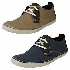 Men's Clarks Light Weight Lace Up Casual Summer Shoes Neelix Vibe