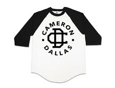 Cameron Dallas Baseball Shirt vine youtube Nash Grier music California 1994 Blak