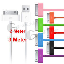 Extra Long 2M 3M USB SYNC DATA CABLE CHARGER LEAD 4 IPHONE 4S 3GS iPod iPad 2 3