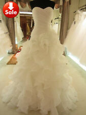 Wedding Dresses 2015 Sweetheart Neckline Crisscross Bridal Gown with Ruffles
