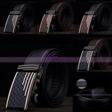 Fashion Business Mens Automatic Buckle Formal Leather Waiststrap Waistband Belt