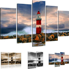 Lighthouse picture on canvas Landscape Pictures Storm Wall Tattoo Art Print