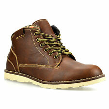 Mens Casual Walking Hiking Trail Work Desert Chukka Lace Ankle Boots Shoes Size