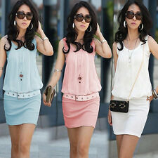 Sexy Women's Casual Pencil Bodycon Summer Cocktail Party Short Slim Dress