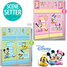 MINNIE MOUSE OR MICKEY MOUSE 1ST FIRST BIRTHDAY PARTY SUPPLIES SCENE SETTER KIT