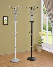 "METAL & WOOD COAT RACK HAT STAND IN BLACK OR WHITE FINISH 74""H  Free Shipping"