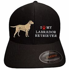 I LOVE MY LABRADOR RETRIEVER Embroidered Flexfit Cool & Dry baseball hat dog pet