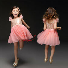 Baby Girls Sequinned Party Dress Princess Pageant Wedding Toddler Summer Dresses