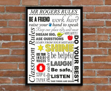Teacher thank you, Personalised Thank you teacher Gift, Classroom Rules Print