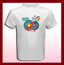 TOUR DE FRANCE 2015 Logo 102 UTRECHT Men's White T-Shirt Size S M L XL 2XL 3XL