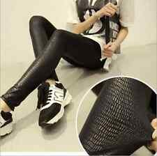 Women Skinny Snakeskin Pattern Sexy Stretchy Leggings Tight Pencil Slim Pants