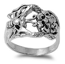 Butterfly And Flower Ring, 925 Sterling Silver, w/FREE Box, Girly, Nature, Cute
