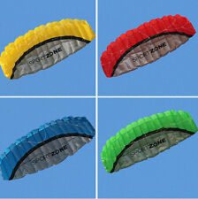 2.5m Outdoor Toy 2 Line Parafoil Parachute Stunt Sport Style Beach Kite 4 Colors