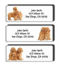 Apricot Toy Poodles Dog Breed Puppies Personalized Return Address Mailing Labels