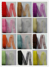 Beautiful embroidered lace ribbon unilateral 10 yards 16 Colors free shipping