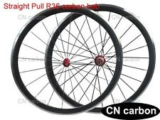 Alloy Brake surface 38mm Clincher carbon bicycle wheels Straight pull R36 hub