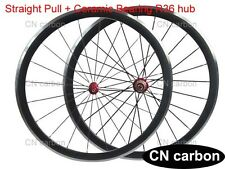 Alloy Brake surface 38mm Clincher carbon bicycle wheels Ceramic bearing R36 hub