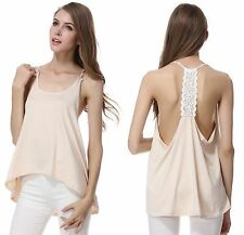 Lady's Summer Sexy Sleeveless Casual Loose Halter Tank Tops Vest Shirt Blouses
