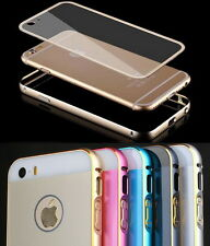 Metal Bumper Hard Case Cover Housing Screen Protector Skin fr iPhone 5 6 6S Plus