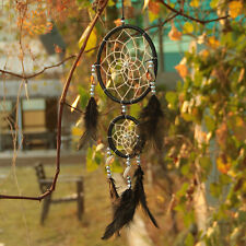 Handmade White/Black Dream Catcher With feathers Wall Hanging Decoration Decor