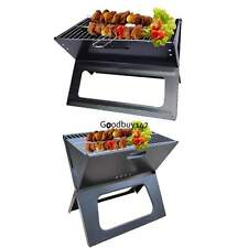 Stainless Charcoal BBQ Grill Folding Barbecue Grill Outdoor Camp Portable Party