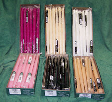 "1 Dozen 12"" Patrician Hand Dipped Taper Candles Color Choice Made in USA"