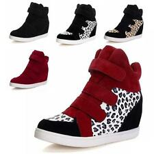 Women's Boots High Top Wedge Heel Tennis Flats Shoes Velcro Sneaker Good quality