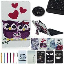 """Univesal Micro Keyboard Leather Case Cover For 7"""" 7.85"""" 8"""" 8.3"""" Android Tablet"""