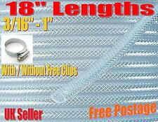 """18"""" Clear PVC Braided Technical Hose Pipe Food Grade Air Water Reinforced Gases"""