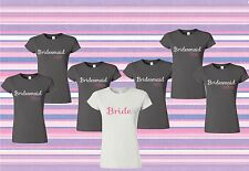 Bridesmaids Personalized T-shirt package, lot, bridal , engagement,maid of honor