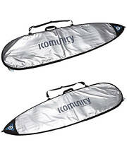 Komunity Project Surfboard Cover Day Use Standard Board Cover Silver New