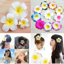 12/60/120 Pcs Floating Frangipani Plumeria Hawaiian Flower Heads Wedding 7cm 9cm