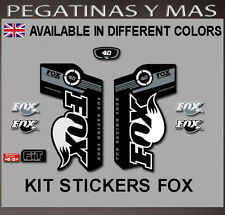 PEGATINAS HORQUILLA FOX  40 SERIES PAD09 STICKER AUFKLEBER FORK FLOAT DECAL