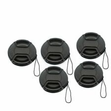 5 pcs 52 55 58 62 67 72 77 82mm Snap-on Camera Front Lens Cap For Canon Nikon...