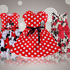 Baby Girls Toddler Kids Dress Princess Pageant Party Mouse Dot Dresses 1-6Years