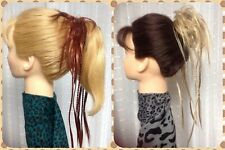 BRAIDED SCRUNCHIE MONA LISA black brown blonde red COLOR CHOICE  PONY TAIL  wrap
