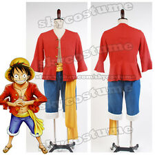 One Piece Monkey D Luffy The Straw Hat Pirates Suit Custom Made Cosplay Costume
