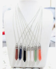 New Unique Delicate Crystal Cylinder Crayon Shape Pendant Statement Necklace