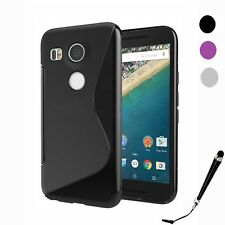 S Curve Gel Jelly Cover Case for LG Nexus 5X / Huawei Nexus 6P + SP & Stylus