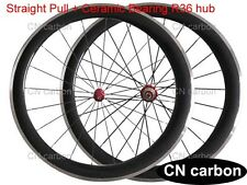 R36 + Ceramic bearing 50mm Clincher carbon bike wheels Alloy brake surface