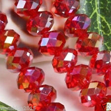 Wholesale Swarovski Crystal Gemstone Loose Beads Red+AB  A22