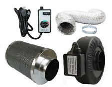 Powermaxx charcoal filter and inline fan combo with speed controller and ducting