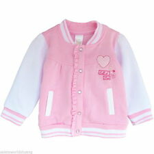 Baby Girl Pink White Warm Cotton Coat Jackets Cute Outwear Kid Party Clothes New