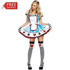 Alice In Wonderland costume women party cosplay adult blue fantasias fancy dress