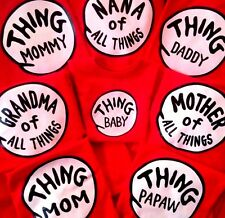 THING ONE and THING TWO thing 1 and thing 2 adult youth toddler infant DR SEUSS