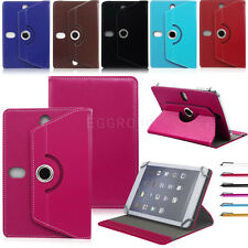 Universal Rotating Folio Folding Leather Stand Case Cover For 7~7.9 Inch Tablet