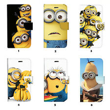 Minions Flip Wallet Case Cover for Samsung Galaxy S3 S4 S5 S6 Edge Note