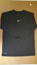 Nike Boy's Black Long Sleeve Dri-Fit Training T-Shirt Nike Logo 453021 Medium