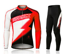 New Spakct Cycling Suits Long Jersey Long Sleeve & Pants-Lightning Red